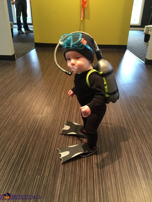 Littlest Scuba Diver Homemade Costume