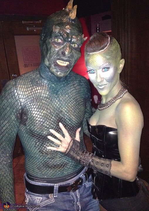 Lizard Man - Homemade costumes for couples
