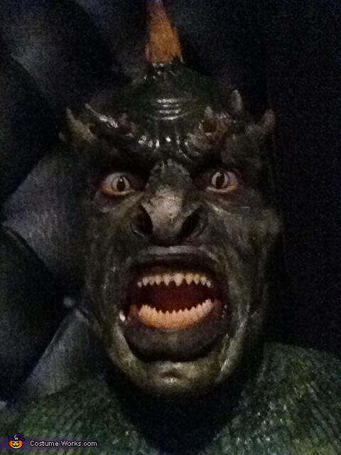 close up 2. Lizard Man - Homemade costumes for couples