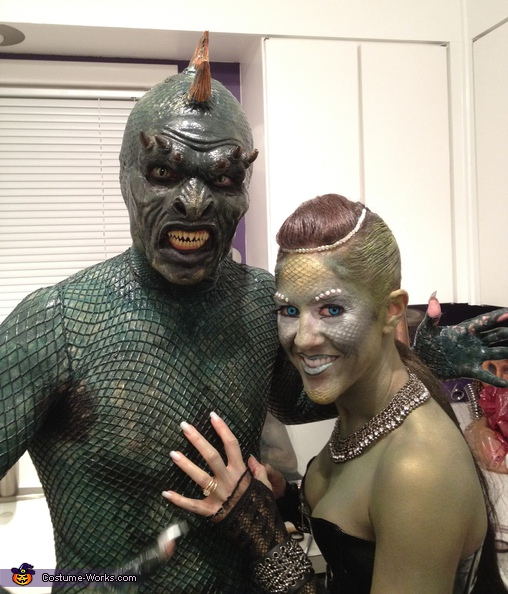 just about done....... Lizard Man - Homemade costumes for couples