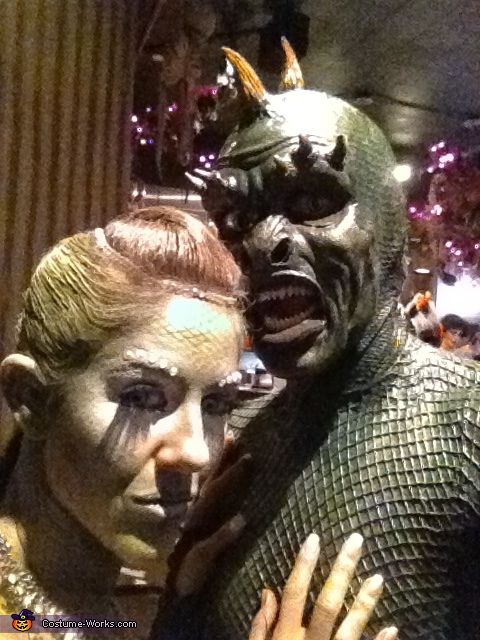 love the lighting. Lizard Man - Homemade costumes for couples