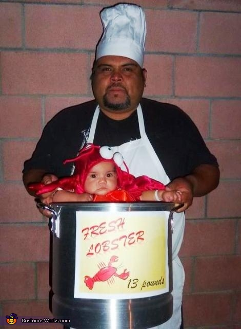 Lobster Baby & Daddy Chef Costume