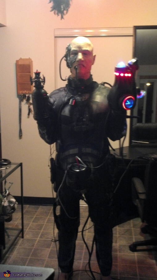 65% complete. Front view. Only the gun powered on., Locutus of Borg Costume