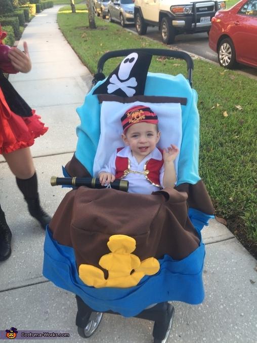 Logan's Pirate Ship Homemade Costume