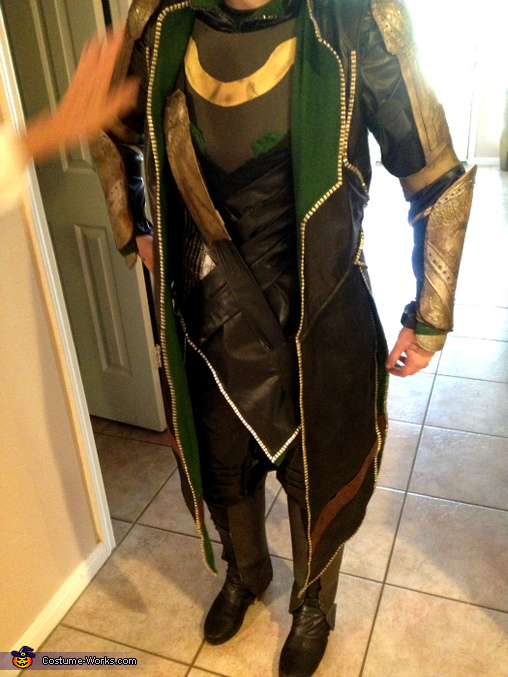 A shot of the inside of the costume., Loki Costume