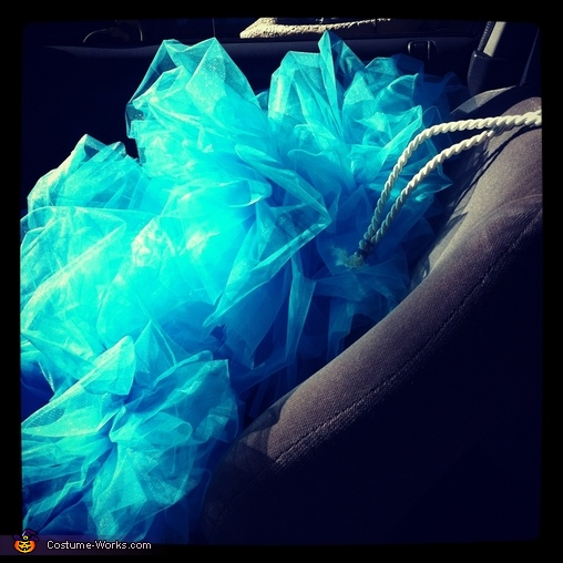 The remnants of a long night of loofah-ing, Loofah Costume