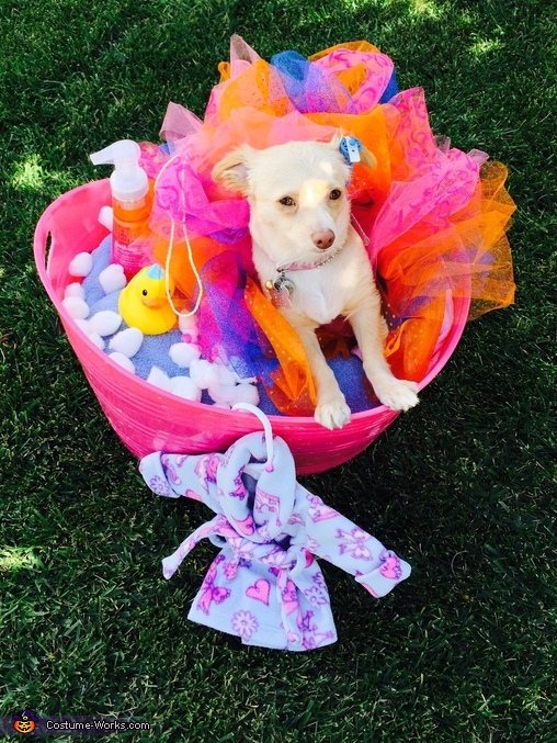 DIY Loofah Dog Costume