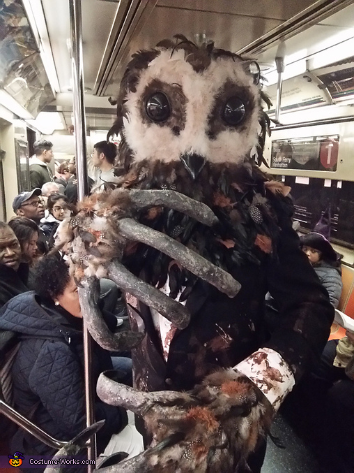 New york City Subway Train, Lord of Tears Owlman Costume