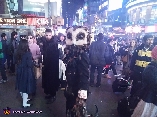 Times Square Manhattan New York, Lord of Tears Owlman Costume
