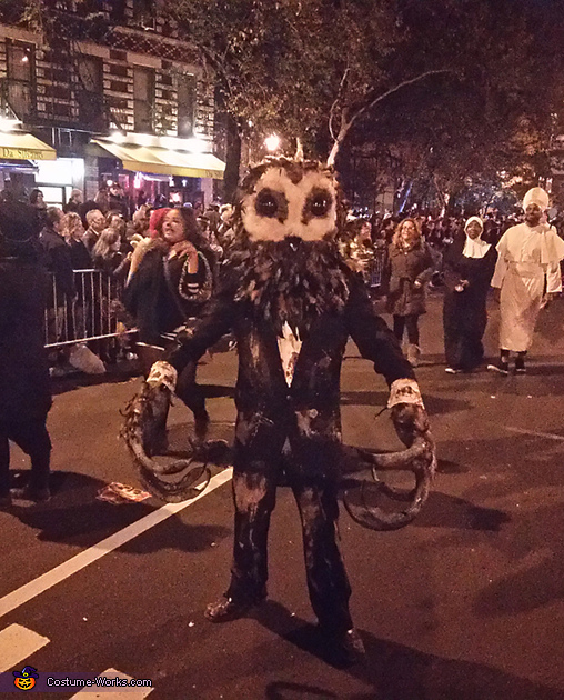 Village Halloween Parade New York City, Lord of Tears Owlman Costume