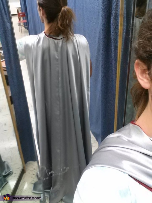 View of the cloak, which fastened at center front with a brooch, Lord Thranduil, King of the Woodland Realm Costume