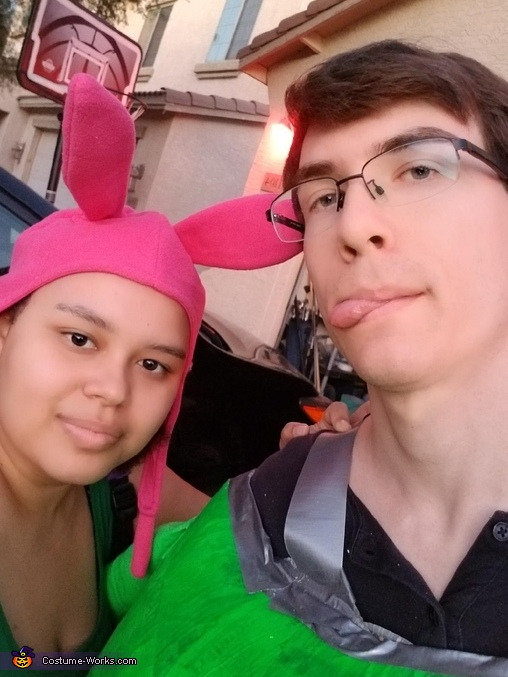 The people behind the costumes, Louise and Kuchi Kopi Costume