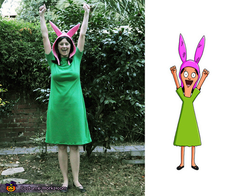 A comparison of me and Louise from the show., Louise Belcher from Bob's Burgers Costume