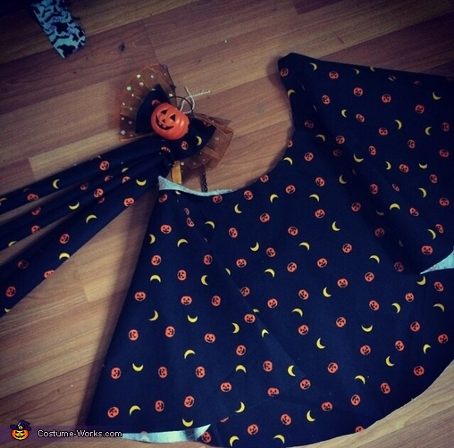Cut out dress and bow , Lucy Moon the Black Cat Costume