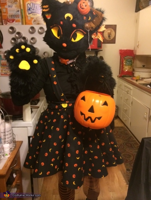 Closer look :), Lucy Moon the Black Cat Costume