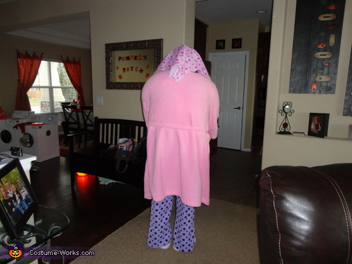 The back view of Lucy., Lucy the Laundry Lady Costume