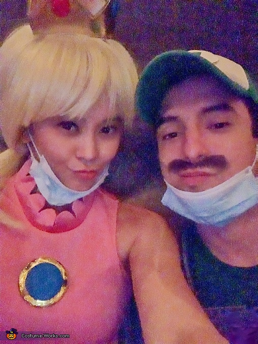 Luigi and Princess Peach Homemade Costume