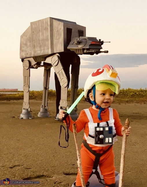 Luke Skywalker and AT-AT Costume