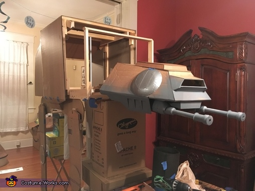 AT-AT lower guns attached, Luke Skywalker and AT-AT Costume