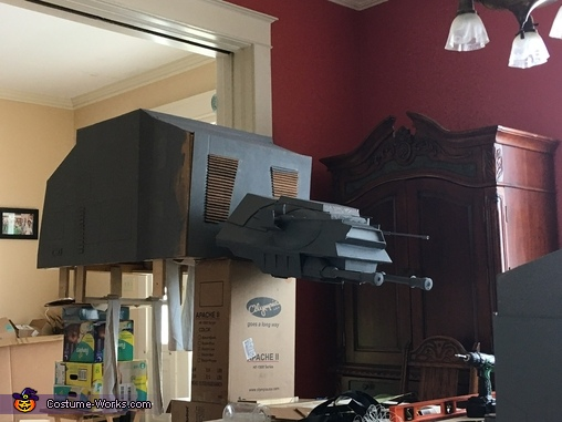 AT-AT with more finished head and body, Luke Skywalker and AT-AT Costume