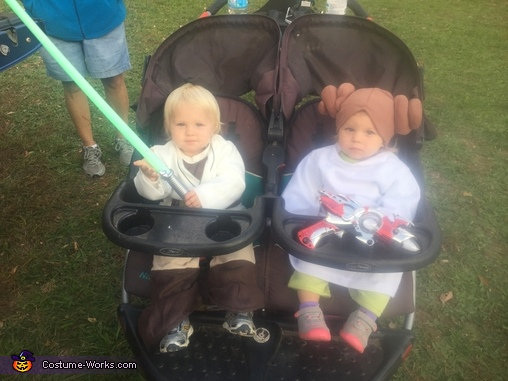 Hitching a ride in the millennial falcon, Luke Skywalker and Princess Leia Organa Costume