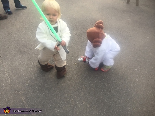 Under attack!!!!, Luke Skywalker and Princess Leia Organa Costume