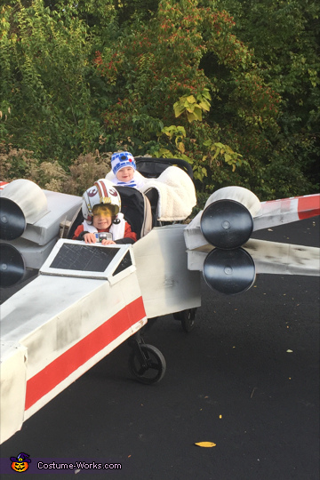 Luke Skywalker and R2-D2 X-Wing Starfighter Homemade Costume