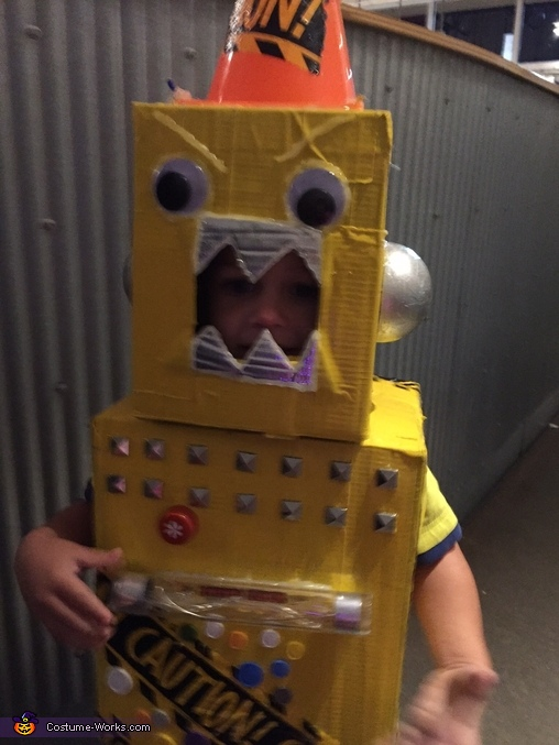 Yellow Robot Homemade Costume