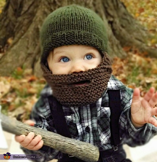 Lumberjack Baby Homemade Costume