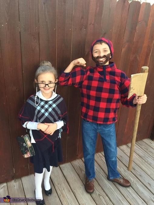 Lumberjack Man and Librarian Costume