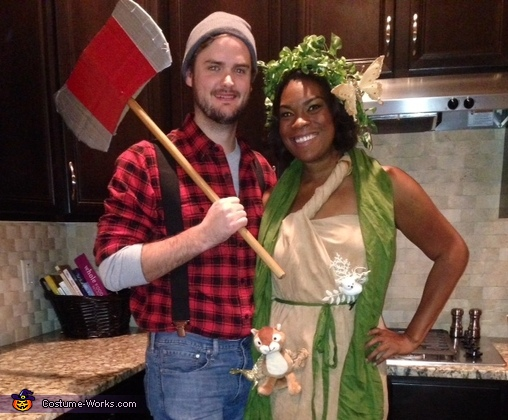 Lumberjack & Tree Couple Costume