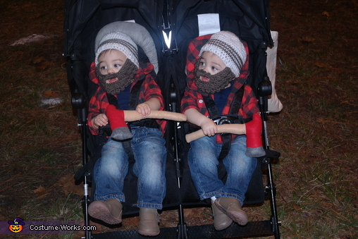 Lumberjacks Twin Boys Homemade Costume