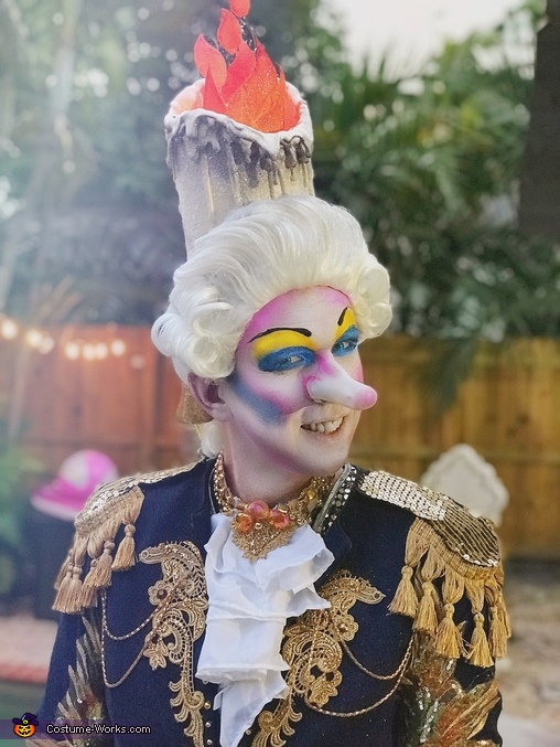 Close up of makeup, Lumiere Costume