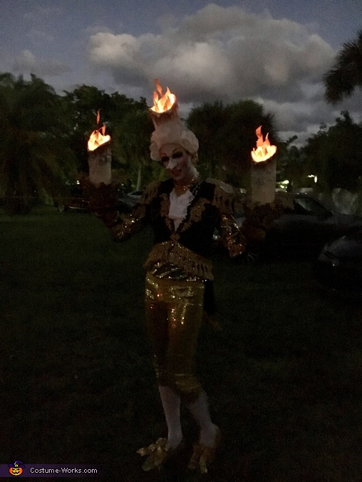 Great pic of realistic flames, Lumiere Costume