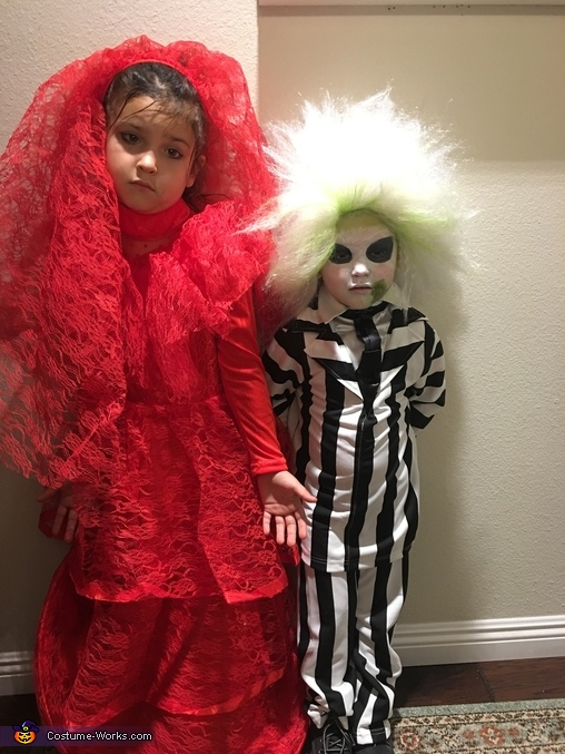 Lydia and Beetlejuice Homemade Costume