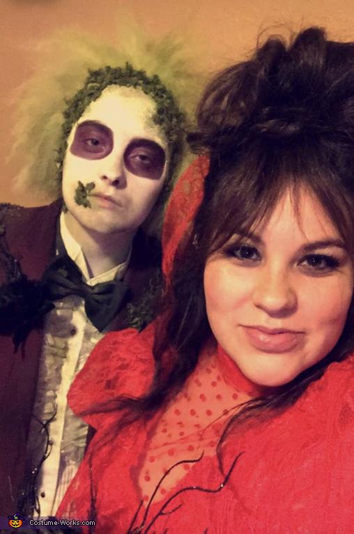 Lydia Deetz and Beetlejuice Homemade Costume