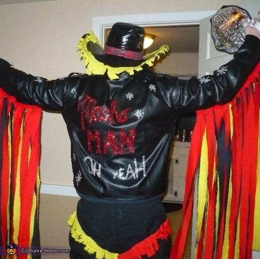 Hand glue and glitter paint ! , Macho Man Randy Savage Costume