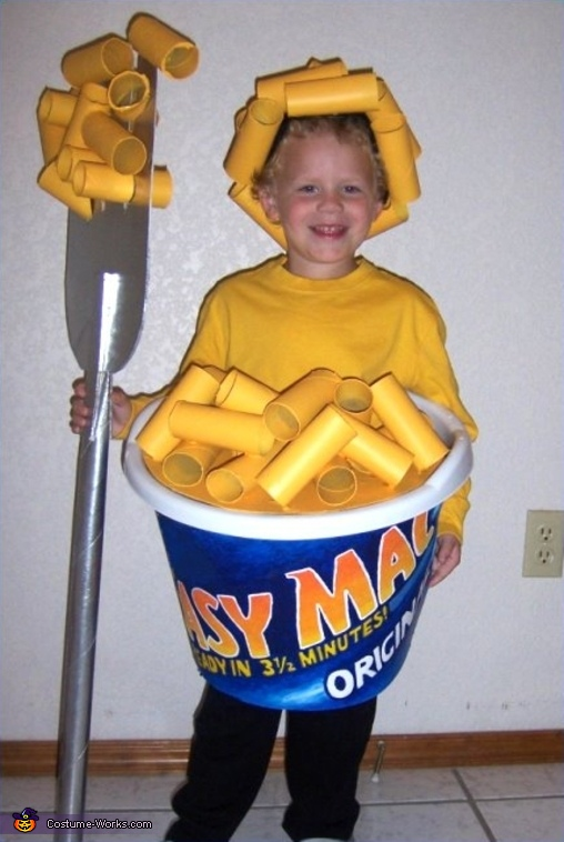 Easy Mac & Cheese - Homemade costumes for boys