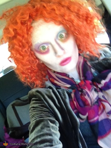 close up of makeup without hat... before eyebrows!, Mad Hatter Costume