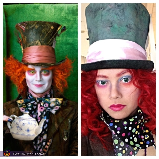 Mad Hatter close up, Mad Hatter Costume