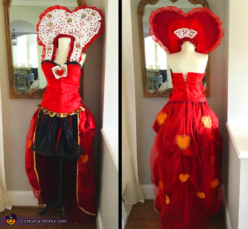 Queen of Hearts' costume, Mad Hatter AFTER the Queen of Hearts' Attack Costume