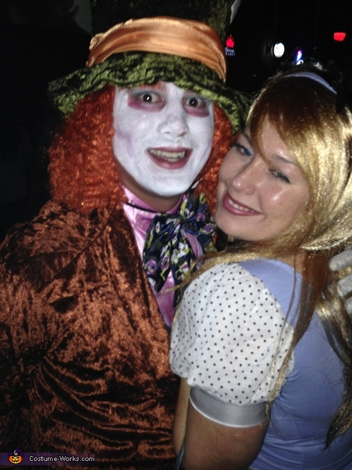 In wonderland about now!, Mad Hatter and Alice in Wonderland Couple Costume