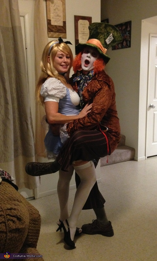 Mad Hatter and Alice in Wonderland Couple Costume