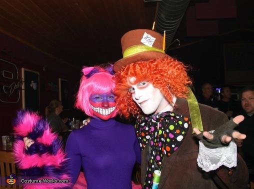 Mad Hatter and Cheshire Cat Couple's Costume