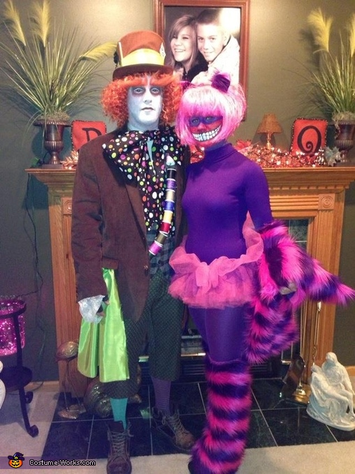 Mad Hatter and Cheshire Cat Homemade Costume