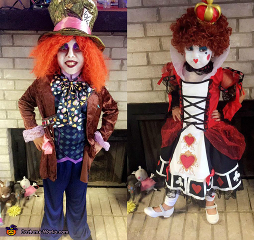 Mad Hatter and Queen of Hearts Kids Costume