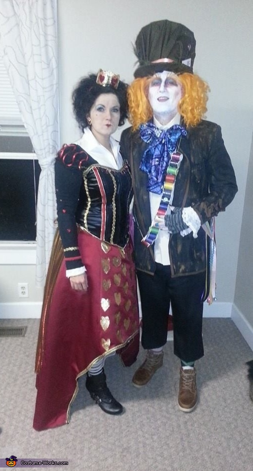 Mad Hatter and Queen of Hearts Couples Costume