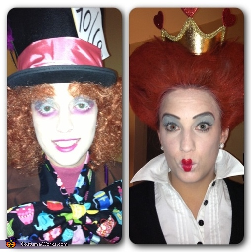 Mad Hatter and the Queen of Hearts Homemade Costume
