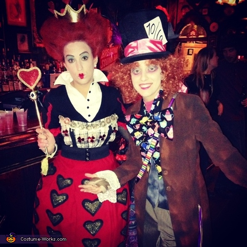 Mad Hatter and the Queen of Hearts Costume
