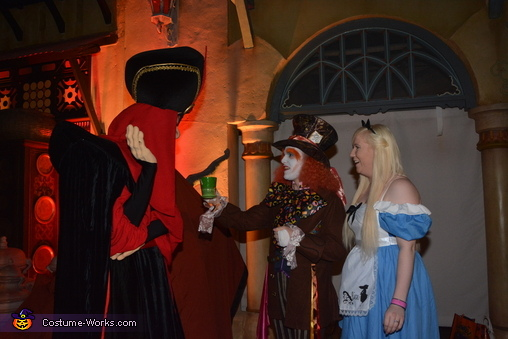 I offered Jafar some tea and he wasn't impressed!, Mad Hatter & Alice Costume